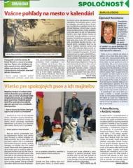 Článok o pes v pohode v regionálnom časopise Trnavsko